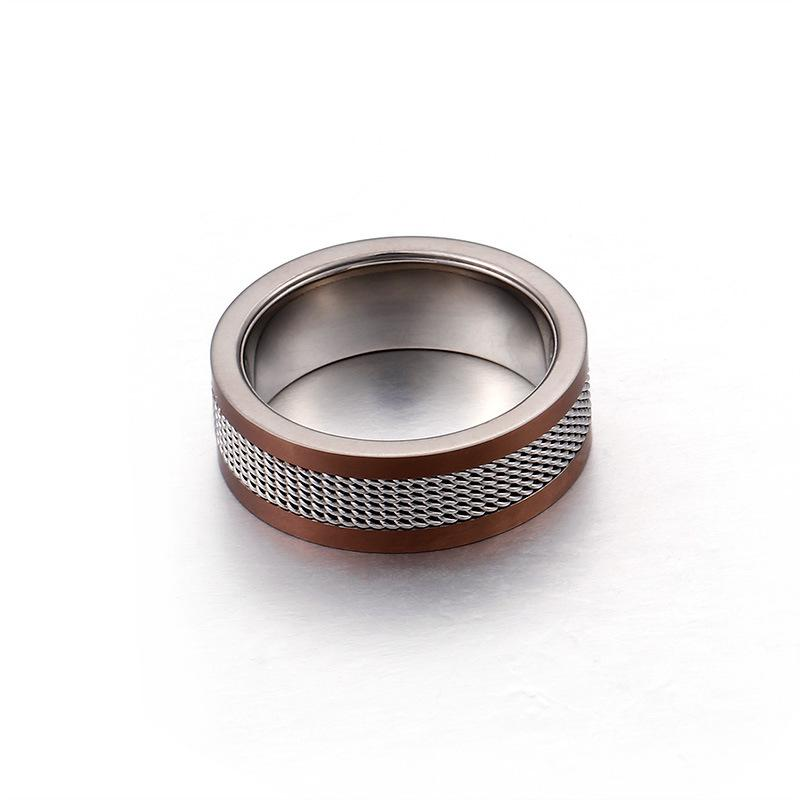 Personalized Men's Genuine Titanium Ring 8mm