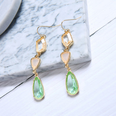 Crystal Gemstone Drop Earrings