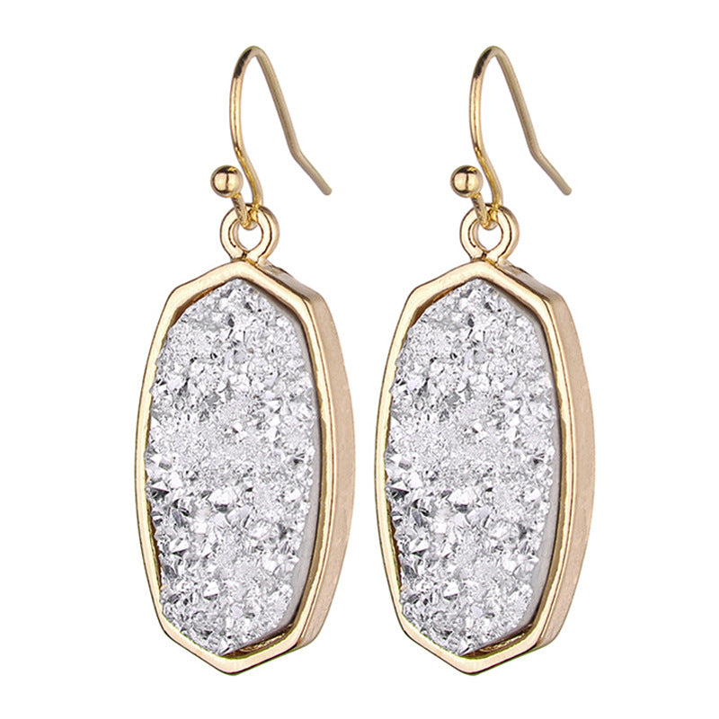 Druzy Alloy Drop Earrings