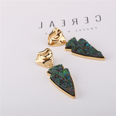 Gold Plated Resin Earrings