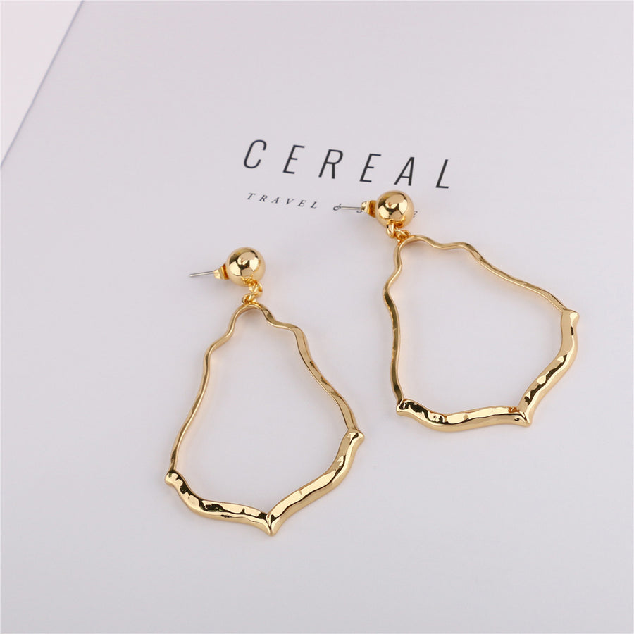 Irregular Gold Plated Earrings