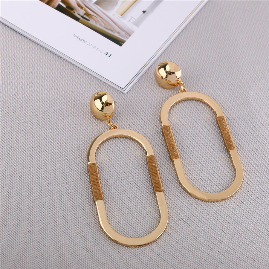 Shiny Gold Plated Hoop Earrings