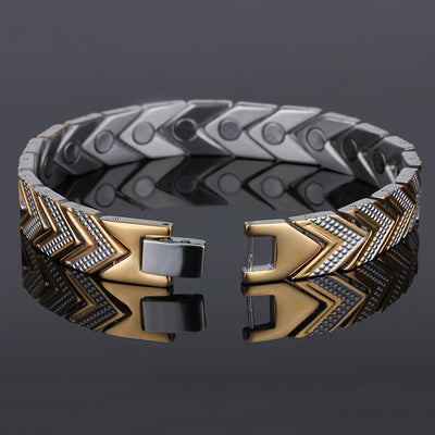 Elegant Titanium Magnetic Therapy Bracelet Pain Relief for Arthritis and Carpal Tunnel