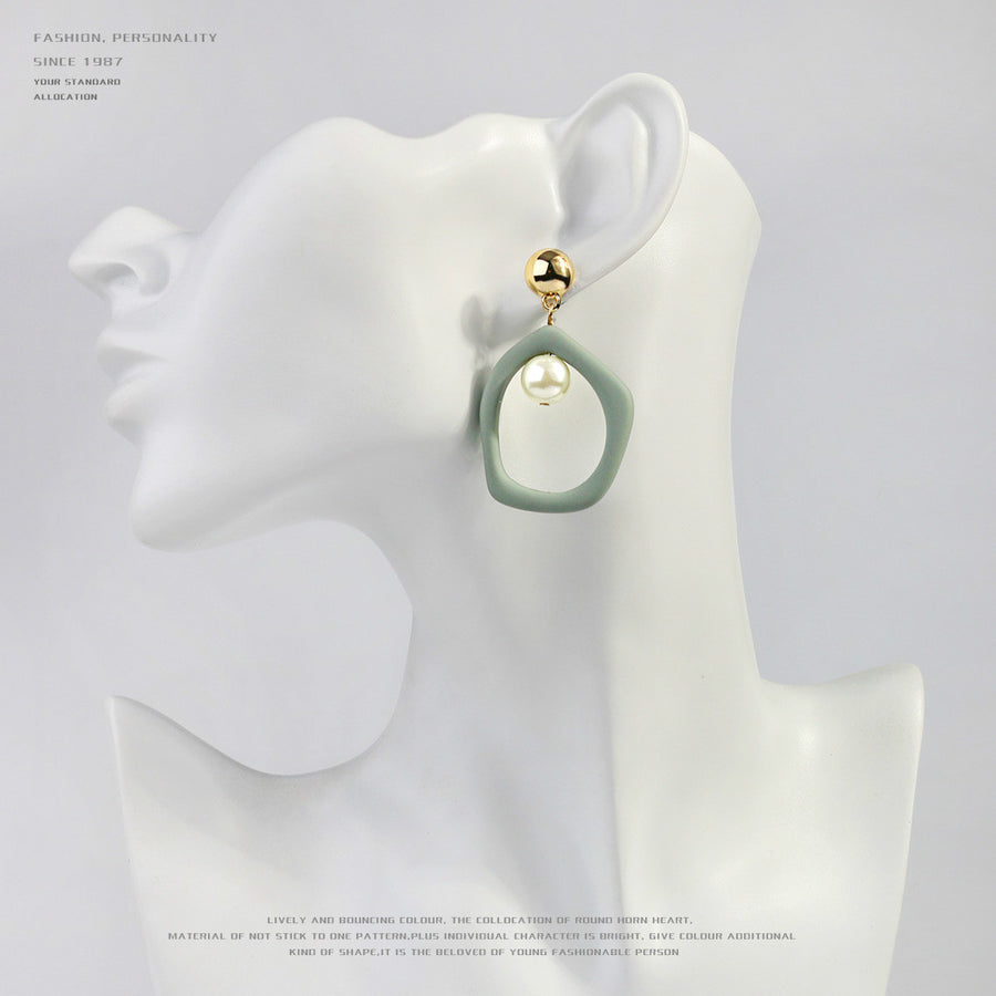 Irregular Alloy Baking Drop Earrings