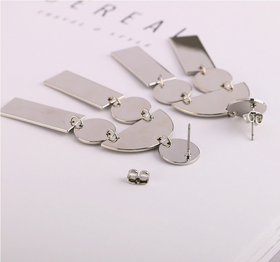Zinc Alloy Drop Earrings