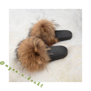 Hazel fur slippers