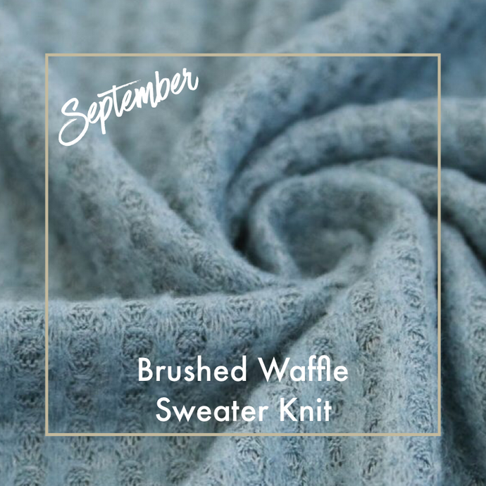 BRUSHED WAFFLE SWEATER KNIT!  SEPTEMBER'S FABRIC, SWATCH #005