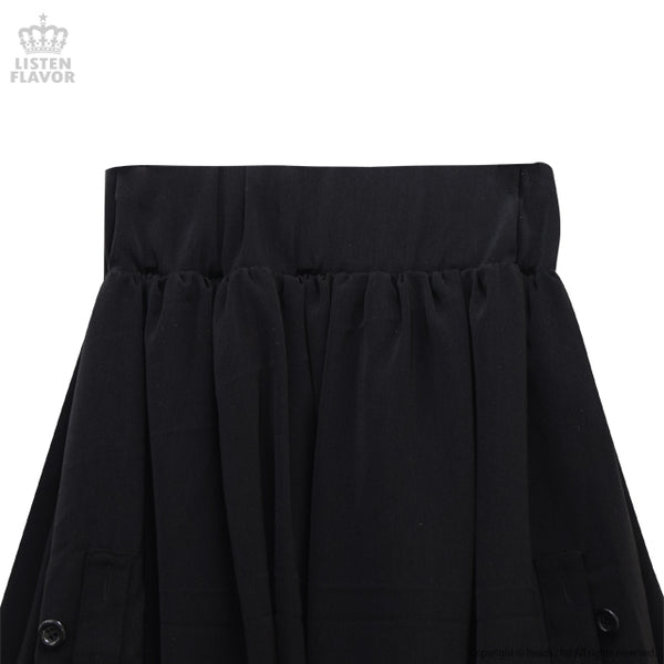 Bat Hemline Deformation Maxi Skirt