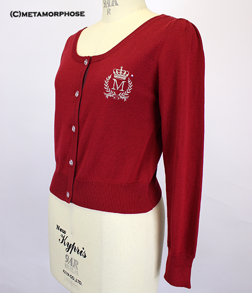Emblem Embroidered Cardigan