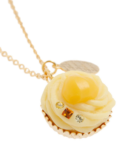 Mont Blanc Cupcake Necklace