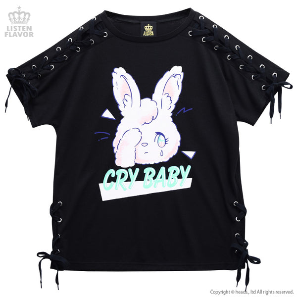 Cry Baby Rabbit Lace-up Cutsew