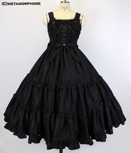 Shantung Lace-up Tiered Long Dress