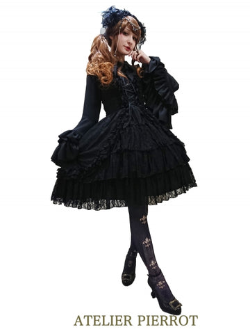 Claudia Lace Dress (Black)