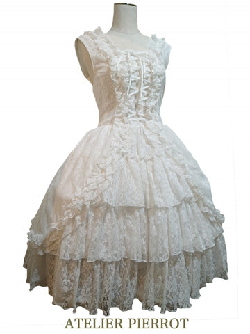 Claudia Lace Dress (White)