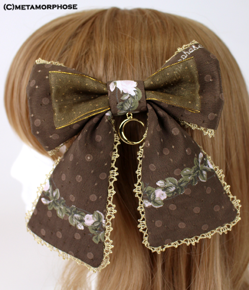 Star Rose Ribbon Clip