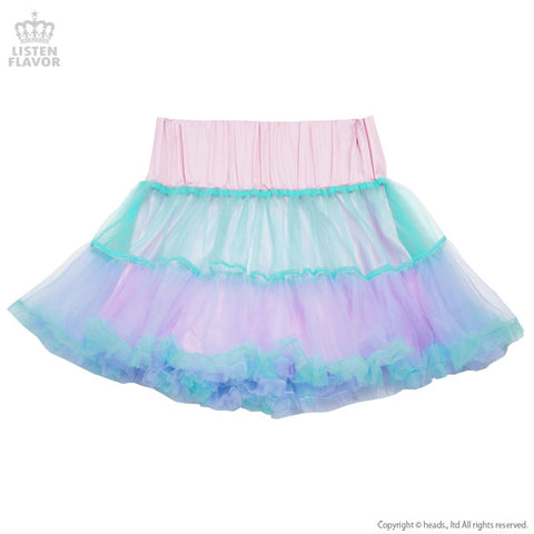 Lace-up Ruffle Tulle Skirt