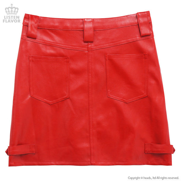 Faux Leather Rider Skirt