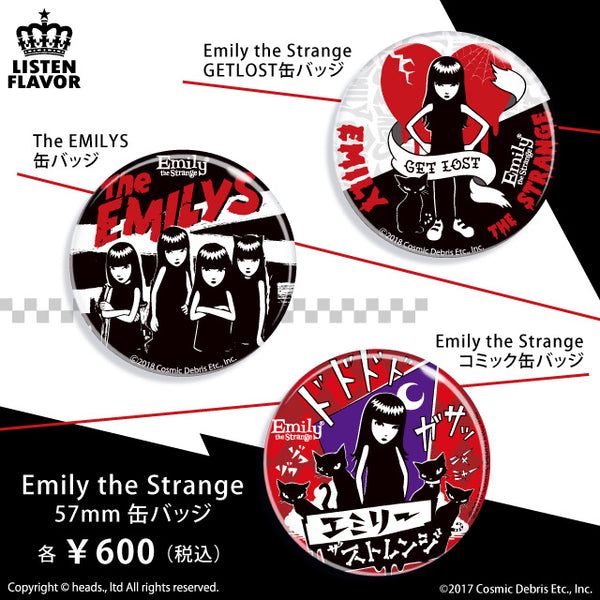Emily the Strange Comic Can Badge