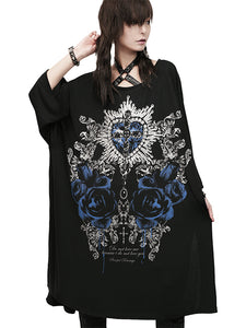QUEEN HEART BLACK GRANDE Cutsew