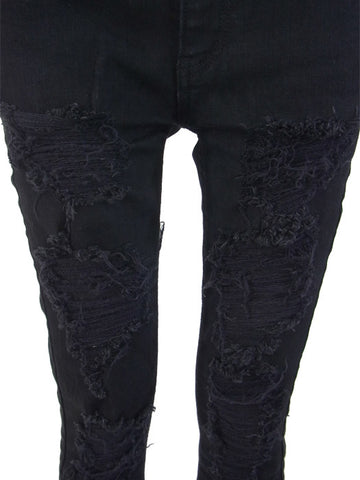 BLACK SUPER STRETCH CRASH Pants