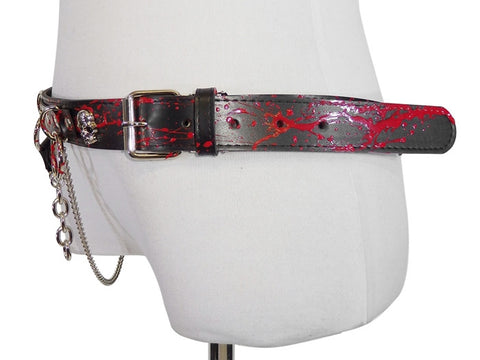 BLACK CHAIN BLOOD SID RING belt