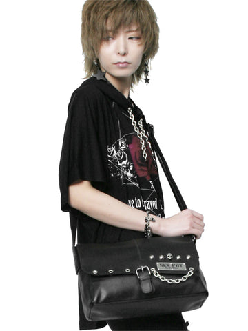 SKULL PLATE SQUARE Shoulder Bag