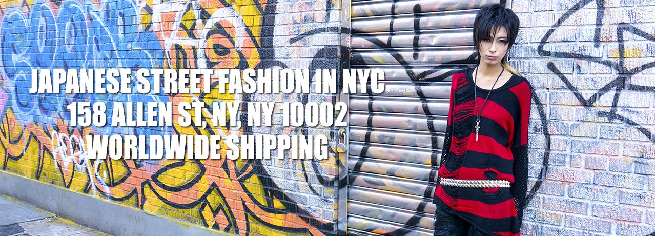 Japanese street fashion in NYC - worldwide shipping!