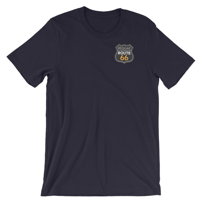 Reggae On Route 66 Badge Unisex T-Shirt