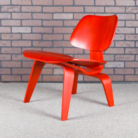 Eames for Herman Miller LCW Plywood Lounge Chair - Aniline Red