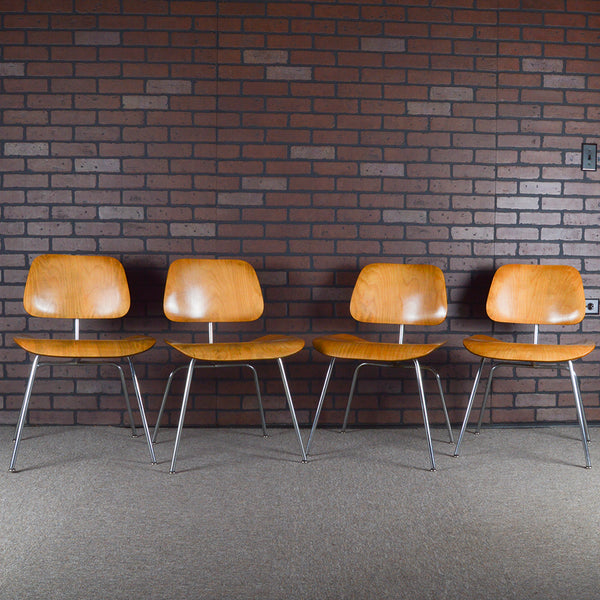 Eames DCM Plywood Dining Chairs 1st Edition Evans Production Set of 4