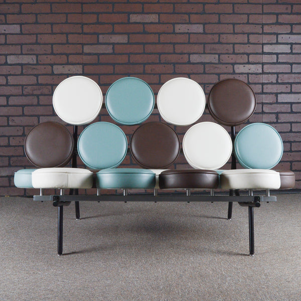 George Nelson for Herman Miller Marshmallow Sofa - Spinneybeck Leather (multicolor)