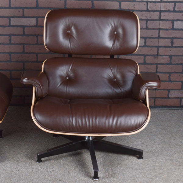 Eames Lounge Chair and Ottoman for Herman Miller - Brown Leather & Walnut