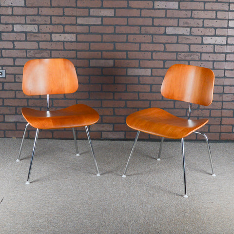 Eames for Herman Miller DCM Plywood Dining Chairs - Cherry