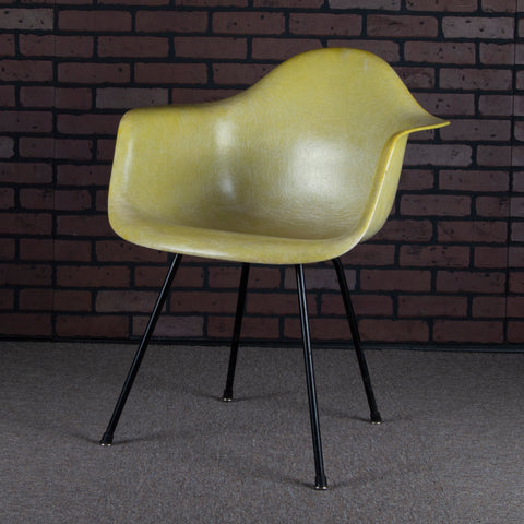 Eames for Herman Miller 2nd Edition Zenith Fiberglass Shell Chair DAX - Vintage Yellow