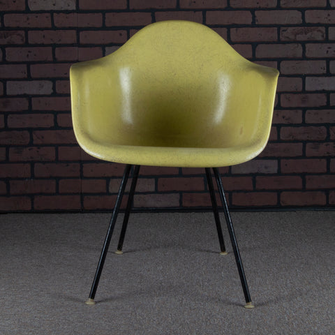 Eames for Herman Miller DAX Fiberglass Shell Arm Chair - Yellow