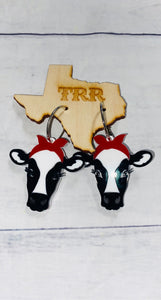 Sassy heifer earrings