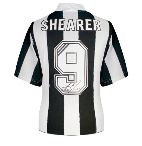Maillot Domicile Newcastle United 1996-97 Dédicacé par <b>Alan Shearer</b>