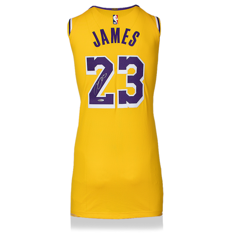 Maillot NBA Los Angeles Lakers 2018-19 Dédicacé par <b>Lebron James</b>