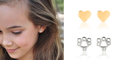 Silver-Gold-Childrens-Earrings