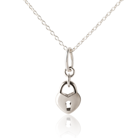 Padlock Necklace - Girls necklace - Silver Jewellery