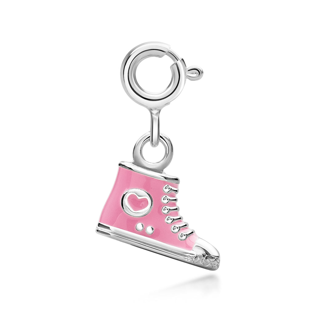 Children's High-Top Shoe Pink Charm
