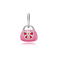 Silver and Pink Handbag Pendant