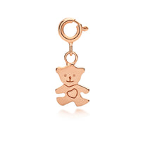 I (heart) Teddy Bear Charm - Rose Gold