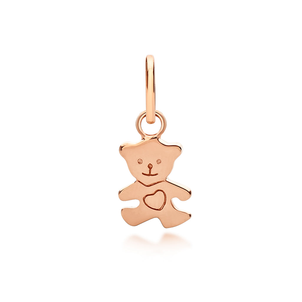 Children's Teddy Bear Pendant Rose Gold