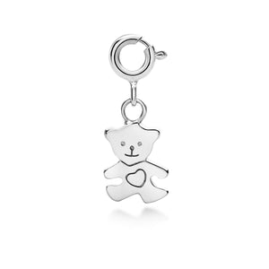 I (heart) Teddy Bear Charm - Silver