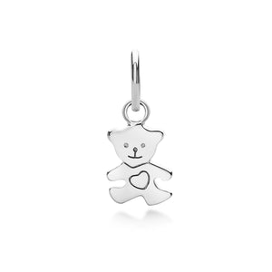 Teddy Bear Pendant in Silver