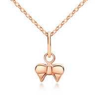 Girl's Rose Gold Bow Necklace