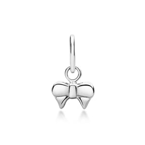 Ribbon Bow Pendant - Silver