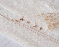 Flickering Flower Pendant & Necklace - Rose Gold Vermeil