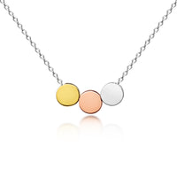 Three Toned Children's Circle Necklace